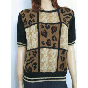 Tiger King (Queen) Sweater, 80s Vintage Gold M/L